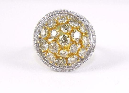 Other Yellow Diamond Round Ring w/Accents 14k White & Yellow Gold 3.42Ct Image 3