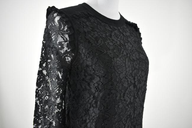 Tory Burch Wool Ruffle Knit Lace Sheer Sweater Image 3