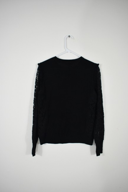 Tory Burch Wool Ruffle Knit Lace Sheer Sweater Image 5