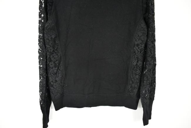 Tory Burch Wool Ruffle Knit Lace Sheer Sweater Image 7