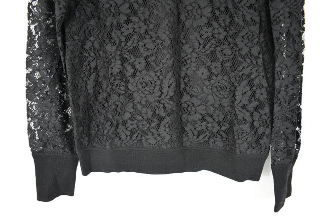 Tory Burch Wool Ruffle Knit Lace Sheer Sweater Image 8