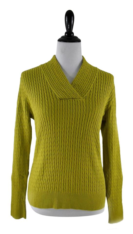 6a5017456 Jeanne Pierre Cotton Medium Yellow Green Sweater - Tradesy