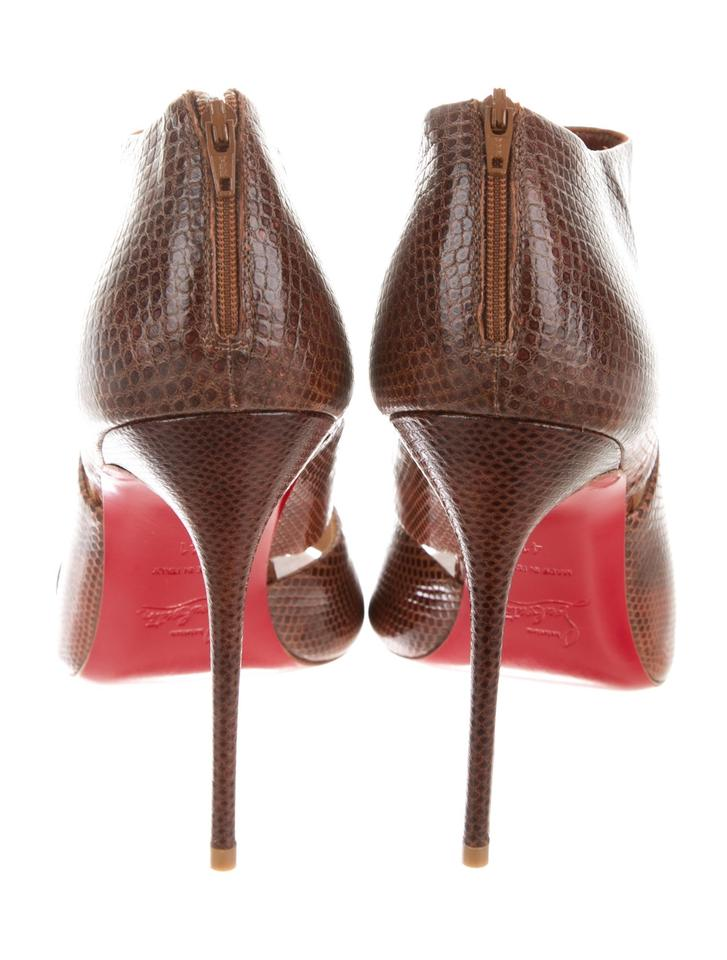 5438be46c44 Christian Louboutin New Snakeskin Caged Pumps Booties 11 Sandals Size EU 41  (Approx. US 11) Regular (M, B) 53% off retail