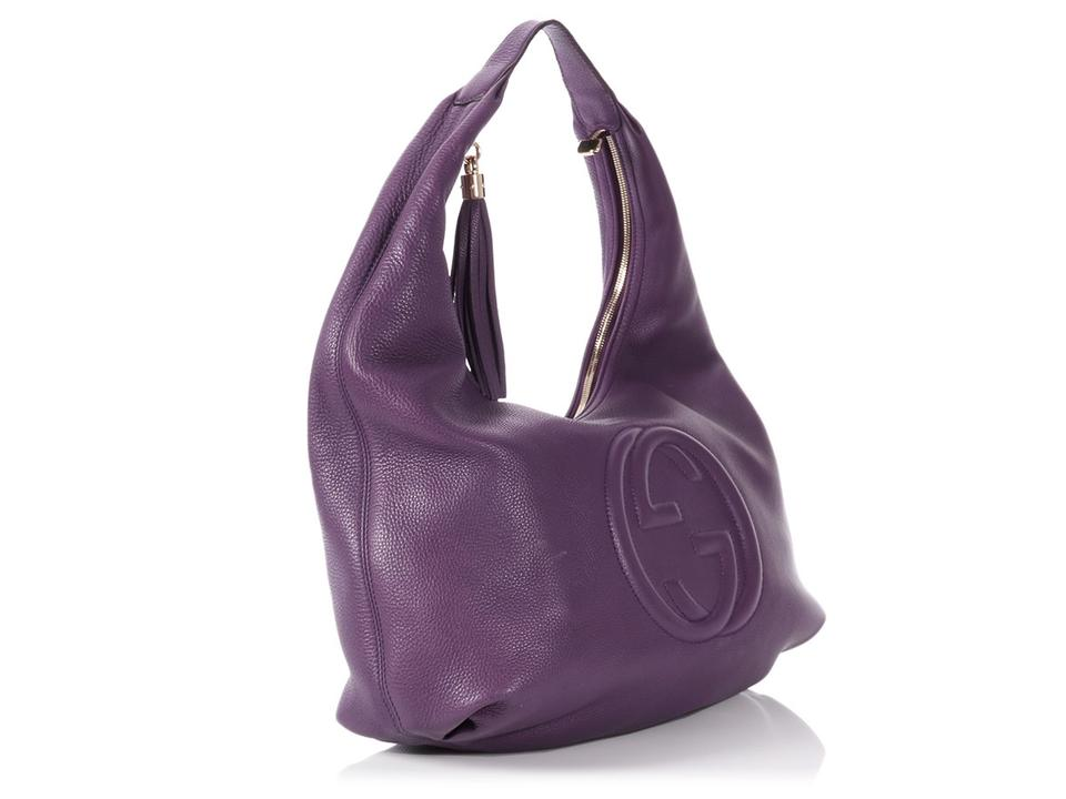 aa797bb0df3c Gucci Soho   sold On Aff   Medium Purple Leather Hobo Bag - Tradesy