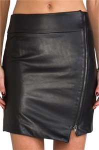 Capulet Leather Mini Skirt Black