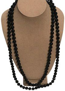 Stella & Dot La Coco Jet Faceted Bead Necklace