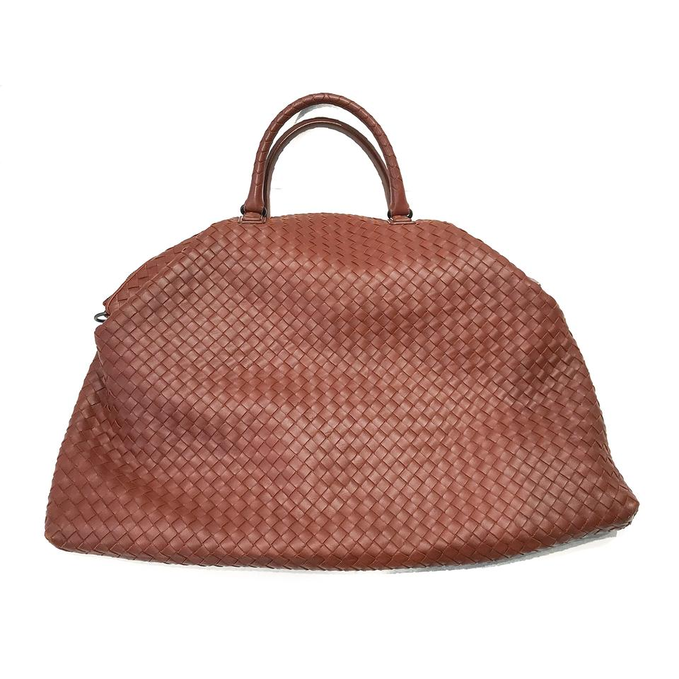 25361da31c Bottega Veneta Intrecciato Convertible Brown Nappa Leather Tote ...