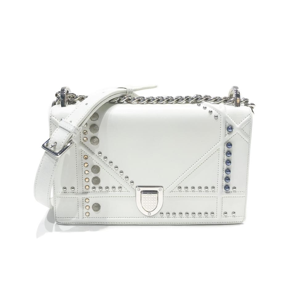 8ed90ba03669 Dior Christian Diorama Flap Small White Calfskin Leather Shoulder ...