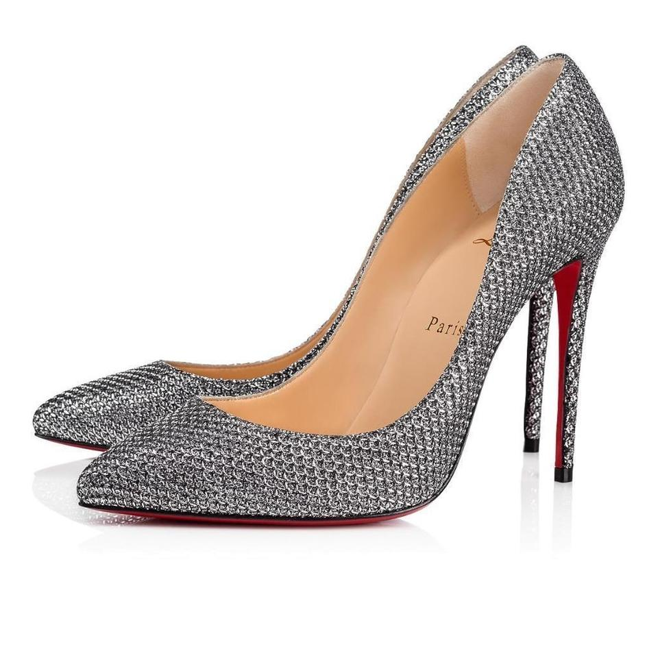 7240c03378a2 Christian Louboutin Antic Silver Pigalle Follies 100 Glitter Pumps ...