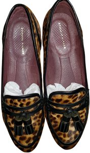 Etienne Aigner Haircalf Tassels Loafer Leopard black Flats