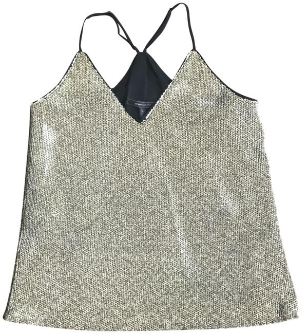 "Item - Bcbg ""Nadya"" Cami Gold Sequin Top"