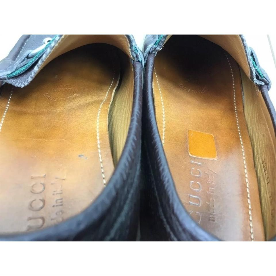 7e30e556940 Gucci Men s  kanye  Brown Leather Bit Loafers 1 2g   8 1 2 Formal ...