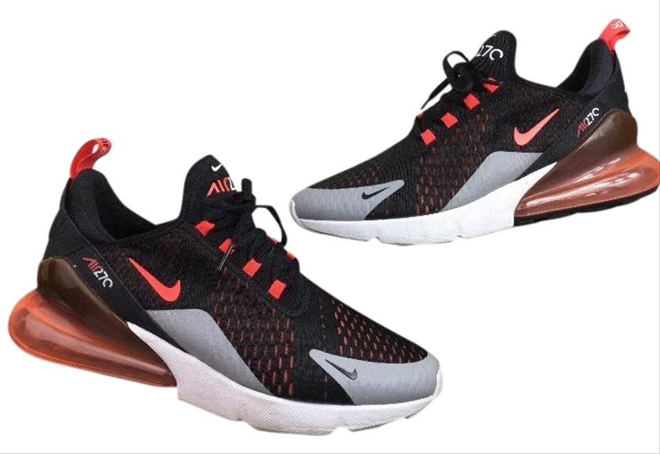 631563dfc3c95 Nike Mens Air Max 270 Running Trainers Black Bright Crimson Hyper Crimson  Sneakers