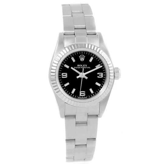 Rolex Rolex Oyster Perpetual Non-Date Steel White Gold Ladies Watch 76094 Image 1