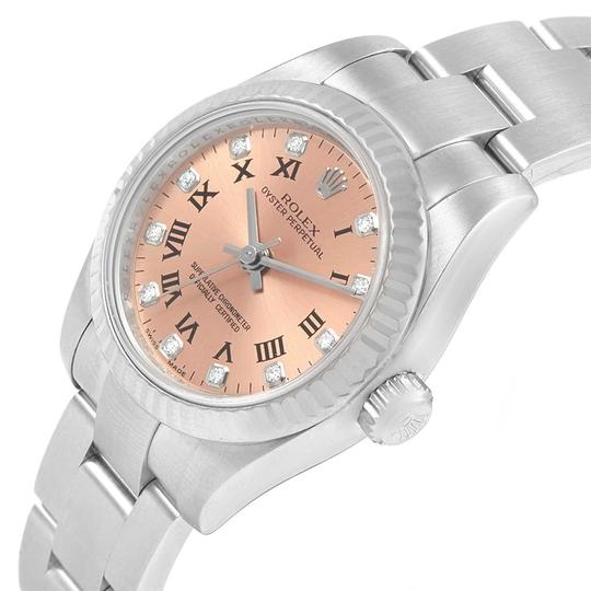 Rolex Rolex Oyster Perpetual 26 Steel White Gold Diamond Ladies Watch 176234 Image 3