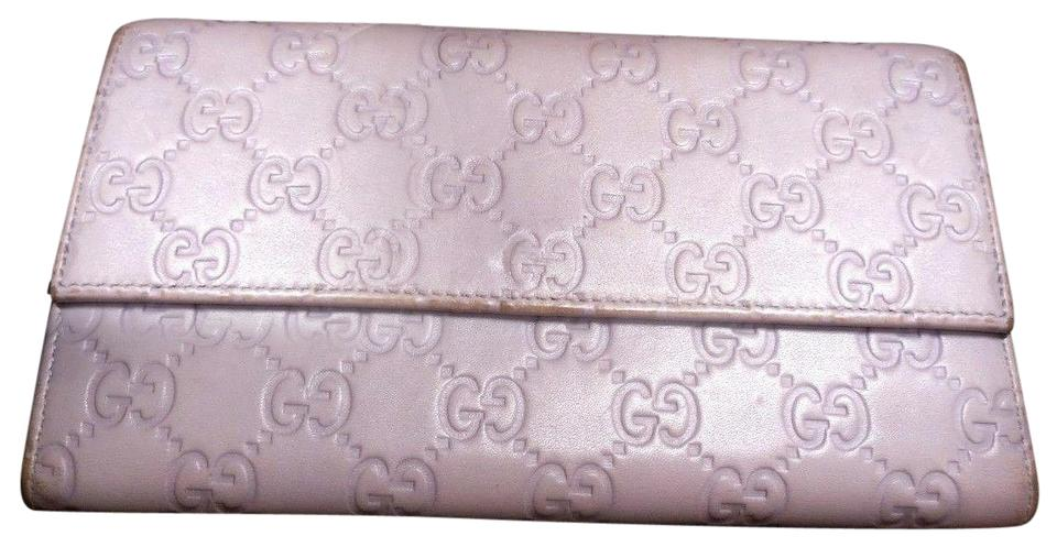 ed862be68f6 Gucci Lavender Purple Leather with An Embossed Large G Print Xl Logo ...