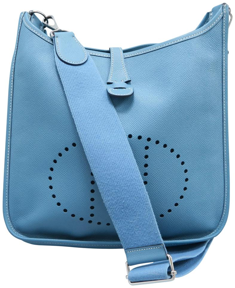 06200ae4df70 Hermès Evelyne Pm Lightblue Blue Epsom Cross Body Bag - Tradesy