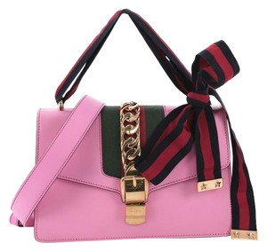 cdc803960fe Gucci Sylvie Small Pink Leather Shoulder Bag - Tradesy