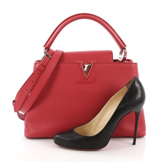 Louis Vuitton Capucines Leather Satchel in Red Image 1