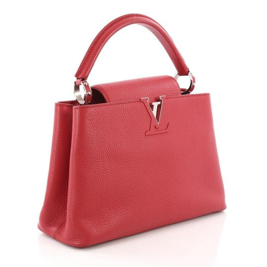 Louis Vuitton Capucines Leather Satchel in Red Image 2