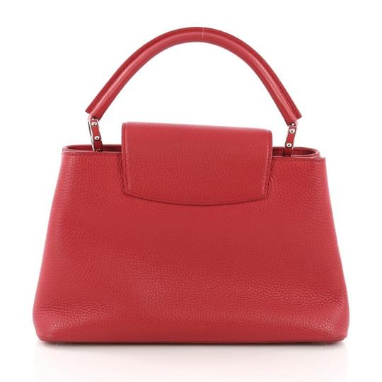 Louis Vuitton Capucines Leather Satchel in Red Image 3