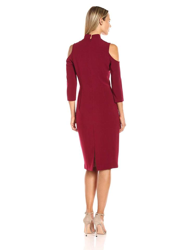 f66cd799 Black Halo Red Women's Sergia Sheath Mid-length Cocktail Dress Size ...