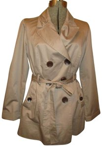 Rewind Belted Double Breasted All Weather Trench Coat