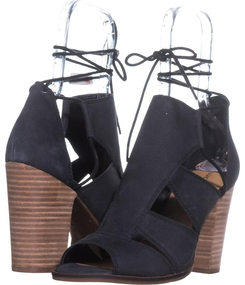 e1308d8aed1 Lucky Brand Black Lanita Heel Sandals 923   40 Eu Pumps Size US 10 ...