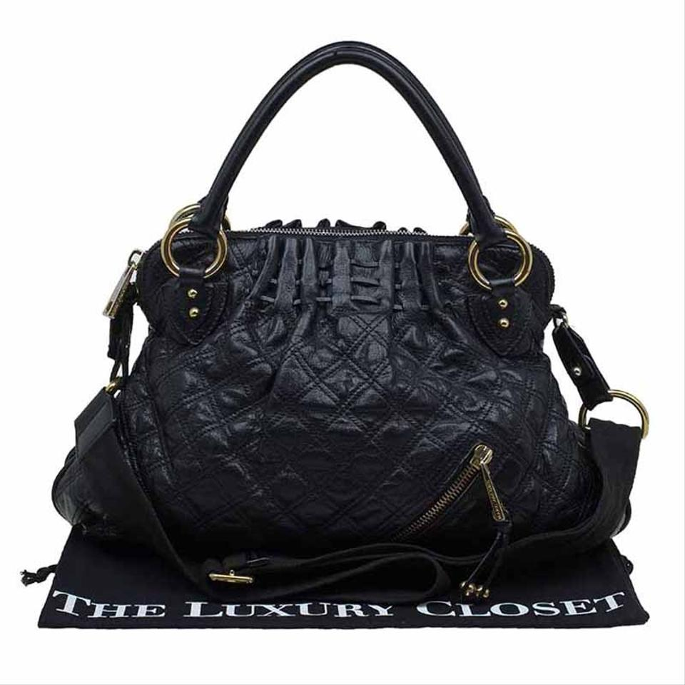 07bf72e95cc8 Marc Jacobs Quilted Cecilia Black Leather Satchel - Tradesy