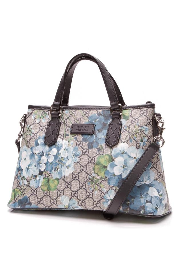 74a304fcaf7801 Gucci Bag Blooms Top Handle - Supreme Beige Coated Canvas Tote - Tradesy