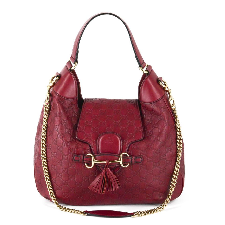 6b2c4d96a08 Gucci Boho Bohemian Chic Leather Logo Hobo Bag Image 0 ...