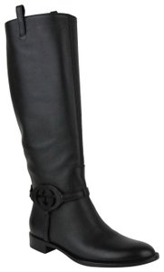 Gucci Leather Interlocking Black Boots
