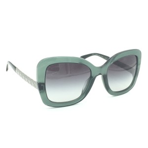905ada82ae Chanel Butterfly Transparent Green Gray Gradient Sunglasses 5370-A 1546 S6