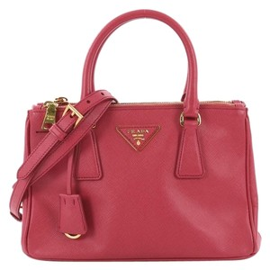 Prada Toe Leather Tote in pink