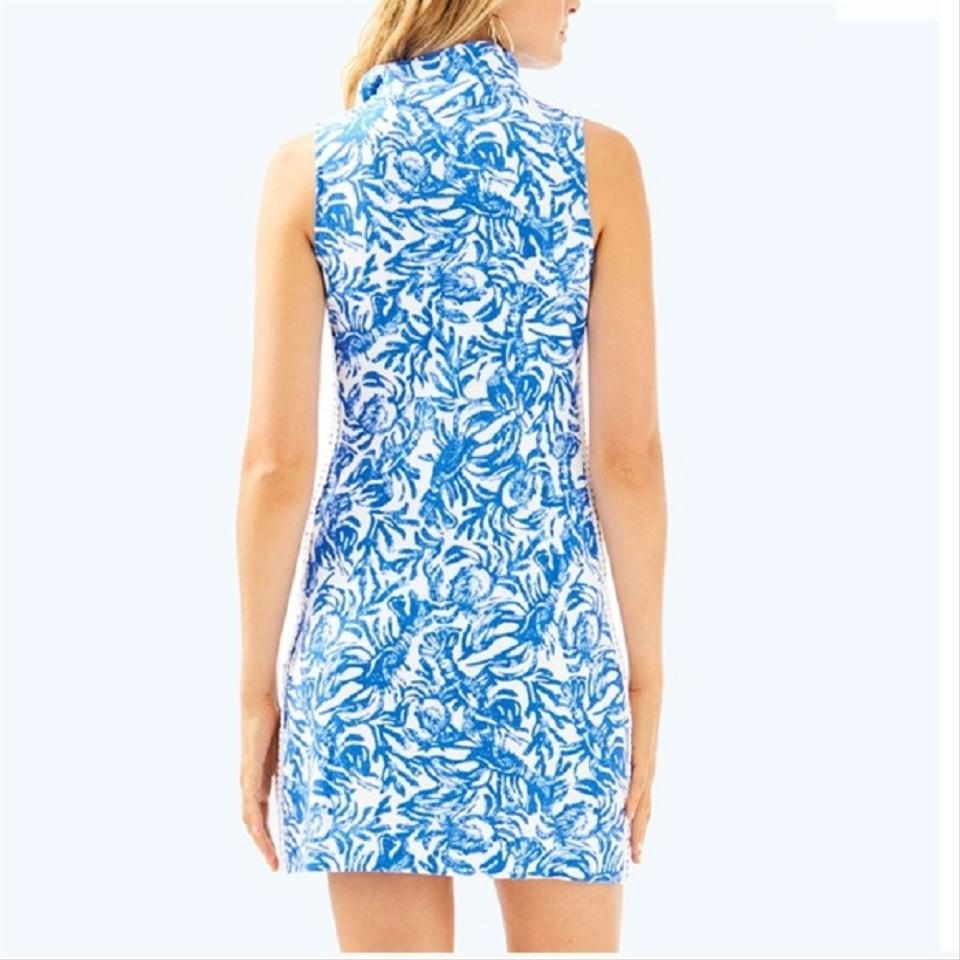 0a0b32e23a11ab Lilly Pulitzer Blue and White Skipper Sleeveless Short Casual Dress ...