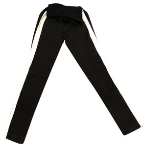 A Pea In The Pod Black skinny fit maternity jeans with white stripe down side