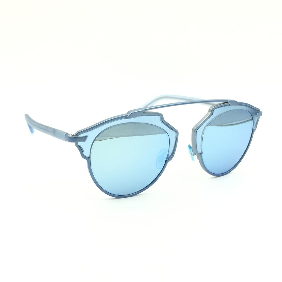 923a506641e028 Dior Metallic Light Blue Cat Eyed Diorsoreal Rmjlh Sunglasses - Tradesy