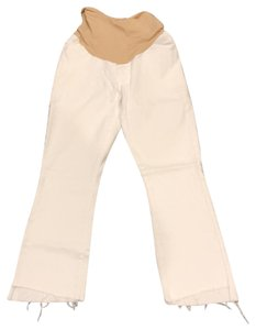 Mother Mother white cropped frayed jeans size 28