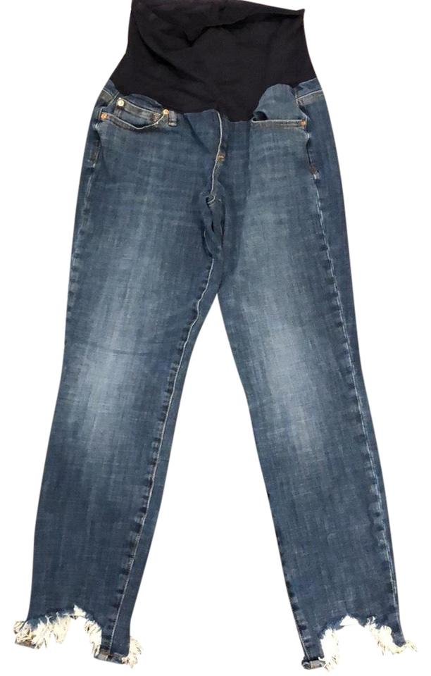3609589a8d4c0 Gap Gap maternity skinny jean with frayed bottom Image 0 ...