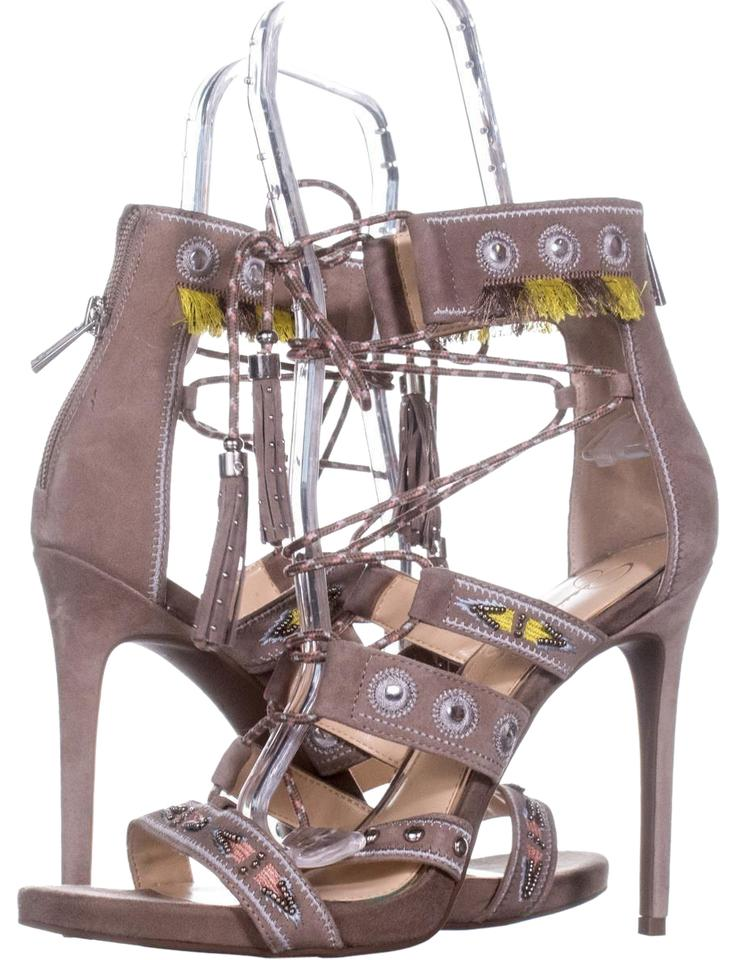 84221e530835 Jessica Simpson Beige Roona Lace Up Gladiator 172 Warm Taupe Sandals ...