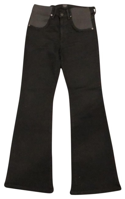 Item - Black Ankle Length Flared Leg Maternity Denim Size 6 (S)
