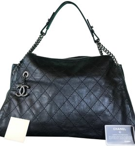 6f9124d17447 Chanel Leather Ultimate Hobo Bag - item med img. Chanel. Hobo Cc Embossed  Ultimate Stitch Chain Sale Black ...