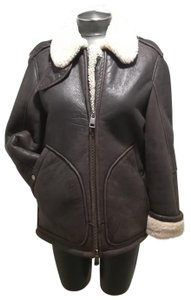 Burberry Brit Brown and ivory Leather Jacket