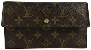 Louis Vuitton LOUIS VUITTON Monogram Vintage Long Checkbook Clutch Wallet