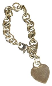 Tiffany & Co. TIFFANY & Co. Silver Chain Bracelet w/ Heart