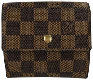 Louis Vuitton LOUIS VUITTON Damier Ebene Small Wallet