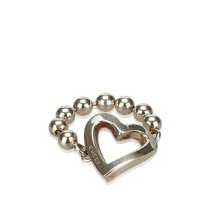 Gucci Gucci Silver Heart Cutout Ring Italy SMALL