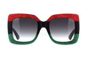 Gucci Large Red | Green | Black Square Style GG0083s 001 - SHIPS IMMEDIATELY