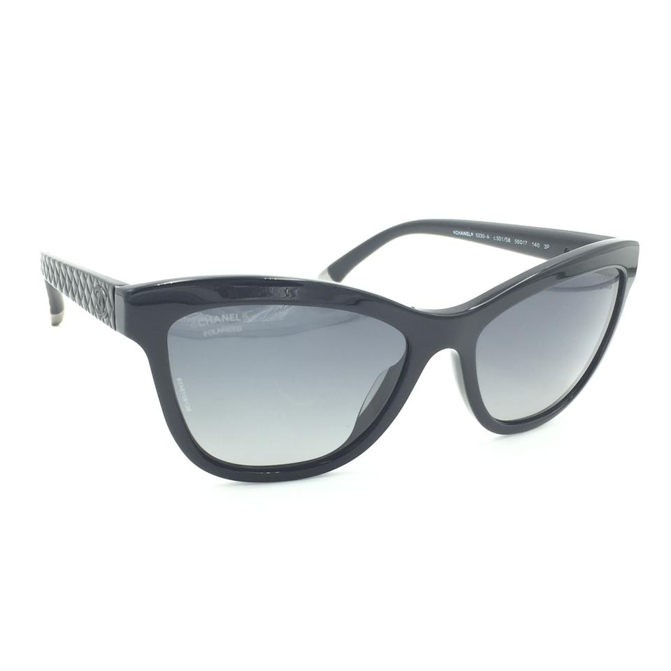 353c4142f71b Chanel Cat Eye Quilted Black Gray Polarized Sunglasses 5330-A 501/S8 Image  11. 123456789101112