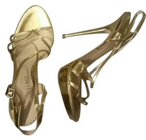 John Galliano gold Sandals